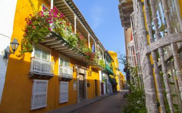 Así de colorido recibe el Centro Histórico a sus visitantes. // Aroldo Mestre